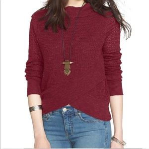 Free People Mock Turtleneck Sweater Red